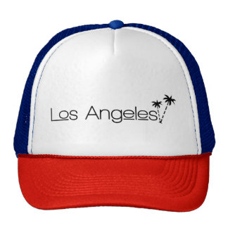 Los Angeles City of Angels Palm Trees in Paradise Trucker Hat