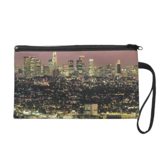 Los Angeles Cityscape at Night Wristlet