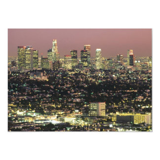 Los Angeles Cityscape at Night Card