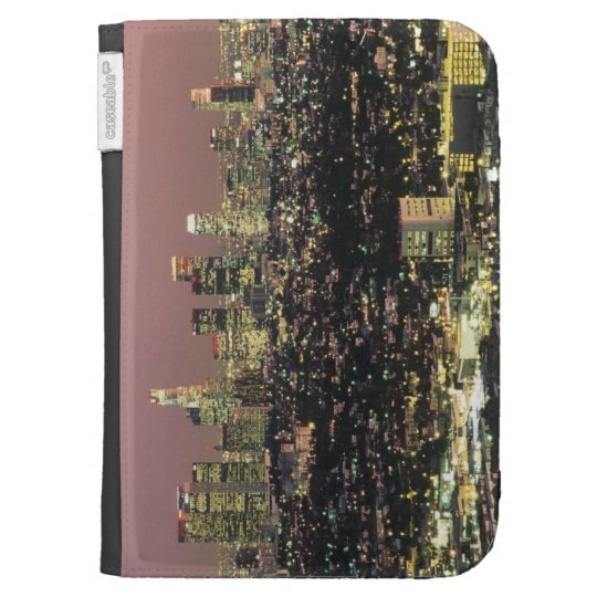 Los Angeles Cityscape at Night Kindle 3G Covers