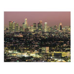 Los Angeles Cityscape at Night Postcard