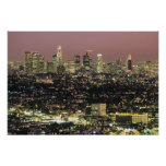 Los Angeles Cityscape at Night Poster