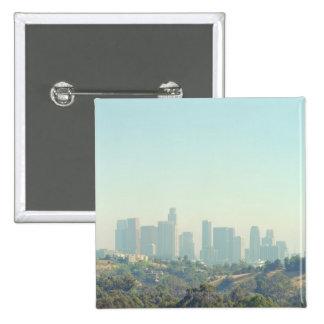 Los Angeles Cityscape Button