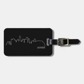 Los Angeles cityscape Tags For Luggage