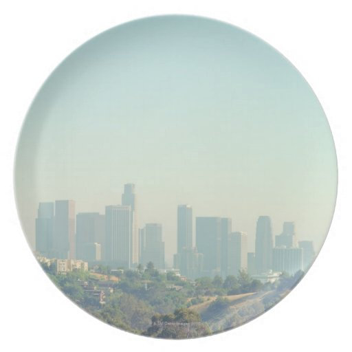 Los Angeles Cityscape Party Plate