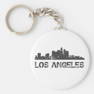 Los Angeles Cityscape Skyline Keychain