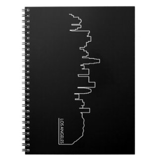 Los Angeles cityscape Spiral Notebook