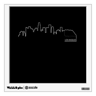 Los Angeles cityscape Wall Decal