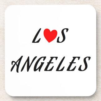 Los Ángeles corazón rojo Posavaso