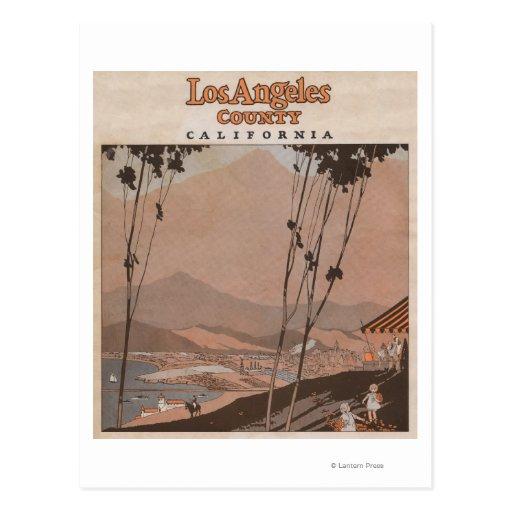 Los Angeles County, California Postcard