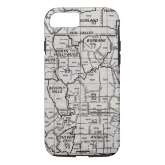 Los Angeles County Street Atlas iPhone 7 Case