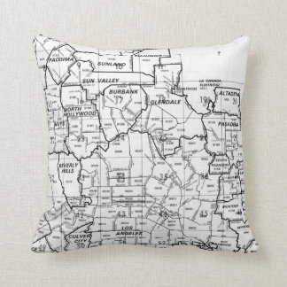 Los Angeles County Street Atlas Throw Pillow
