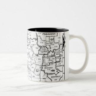 Los Angeles County Street Atlas Two-Tone Coffee Mug