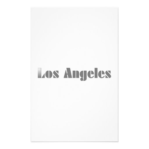 Los Angeles Customized Stationery