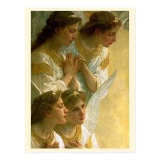 Los ángeles de Bouguereau - postal