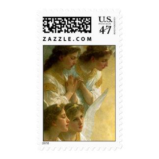 Los ángeles de Bouguereau - sello
