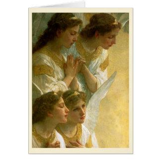 Los ángeles de Bouguereau Tarjeta De Felicitación