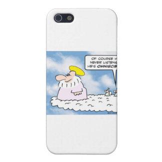los ángeles de dios nunca escuchan omnisciente iPhone 5 carcasa