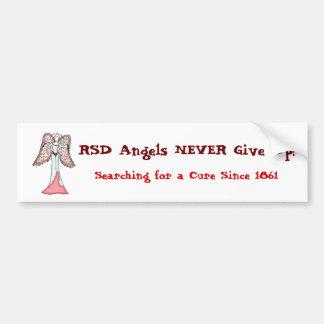 ¡Los ángeles de RSD NUNCA dan para arriba! Etiqueta De Parachoque