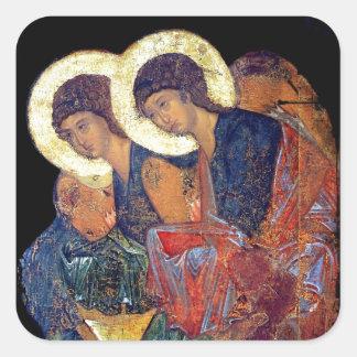 Los ángeles de Rublev Colcomanias Cuadradas Personalizadas