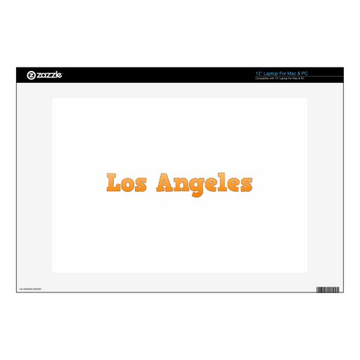"""Los Angeles Decals For 13"""" Laptops"""