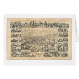 Los Ángeles del este, mapa panorámico 1888 (0900A) Tarjeta