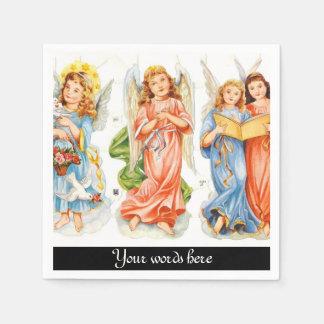 Los ángeles del vintage añaden las servilletas de servilletas desechables