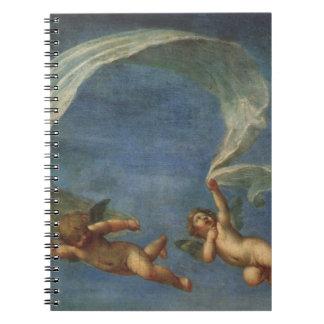 Los ángeles detallan de Adonis llevaron por los Note Book