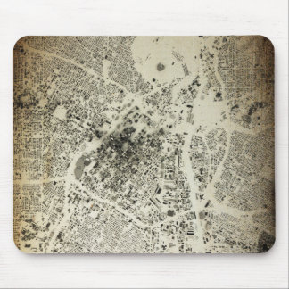 Los Angeles Downtown Streets and Buildings Vintage Mouse Pad
