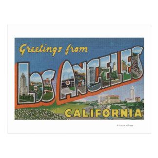 Los Ángeles escenas de la letra de CaliforniaLarg Tarjetas Postales