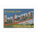 Los Ángeles, escenas de la letra de Tarjetas Postales