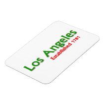 "Los Angeles Established 3""x4"" Flexible Magnet"