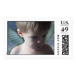 Los ángeles están mirando sello postal