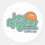 Los Ángeles Etiquetas Redondas