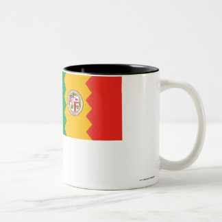 Los Angeles Flag Two-Tone Coffee Mug