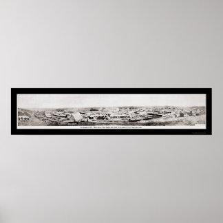 Los Ángeles, foto 1869 de CA Póster