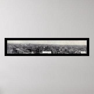 Los Ángeles, foto 1930 de CA Póster