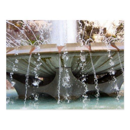 Los Angeles Fountain Postcard