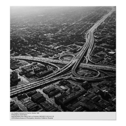 Los Angeles Freeways from the Air, 1966 Poster