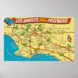 Los Angeles Freeways Poster