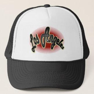 Los Angeles Glow Red Plastic Trucker Hat