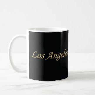 Los Angeles Gold - On Black Coffee Mug