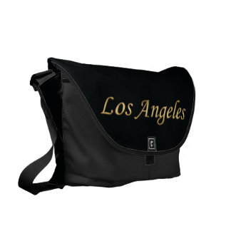 Los Angeles Gold - On Black Courier Bag