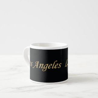 Los Angeles Gold - On Black Espresso Cup