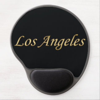 Los Angeles Gold - On Black Gel Mouse Pad