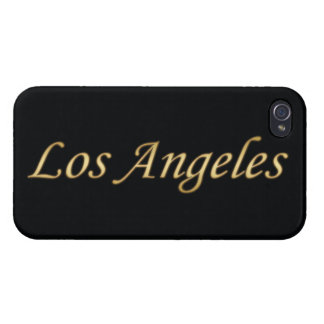 Los Angeles Gold - On Black Case For iPhone 4