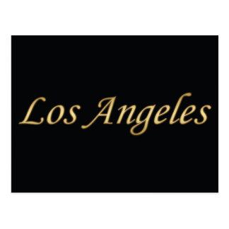 Los Angeles Gold - On Black Postcard