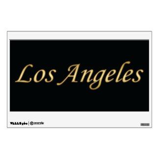 Los Angeles Gold - On Black Wall Sticker