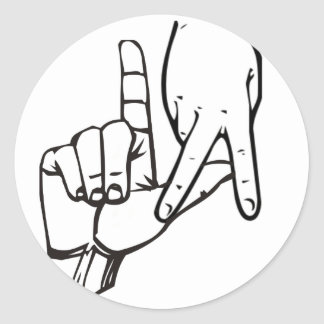 Los Angeles Hand Sign Classic Round Sticker