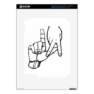 Los Angeles Hand Sign iPad 3 Decals